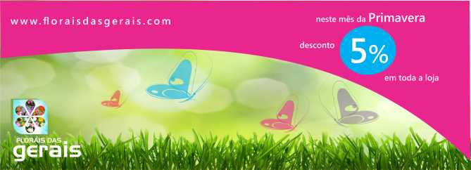 Banner desconto Primavera